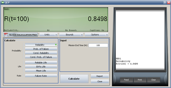 Analytical Quick Calculation Pad Qcp